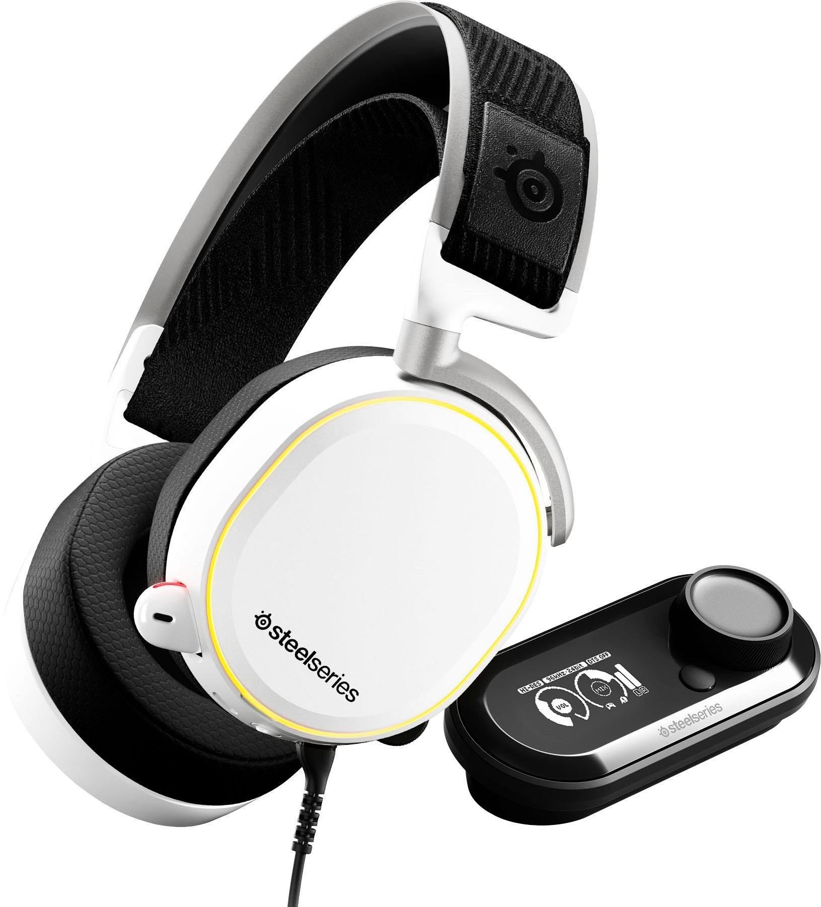 Steelseries »Arctis Pro + GameDAC White« gaming-headset (bluetooth, Hi-Res, Noise-Cancelling) - gratis ruilen op otto.nl