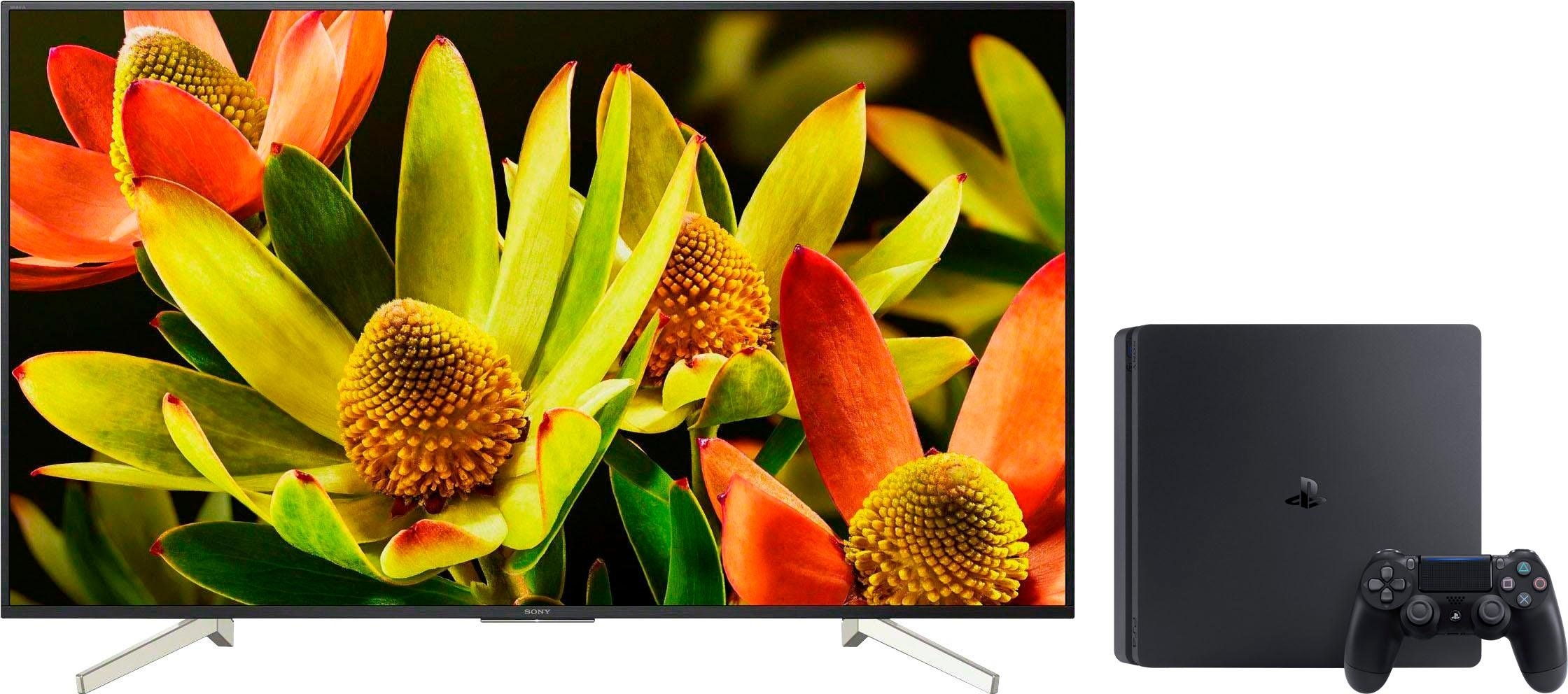 SONY KD60XF8305 + PS4 Slim console 500GB led-tv (60 inch), 4K Ultra HD, smart-tv online kopen op otto.nl
