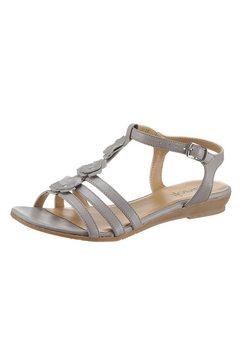 airsoft sandalen met modieuze sierapplicatie grijs