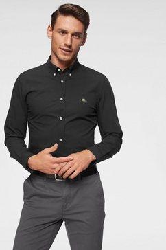 lacoste overhemd met lange mouwen zwart