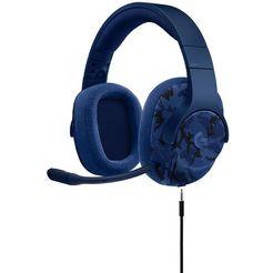 logitech games »g433« gaming-headset (bedraad, ruisonderdrukking) blauw