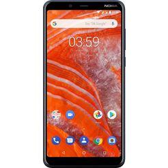 nokia 3.1 plus dualsim-smartphone (15,24 cm - 6 inch, 16 gb, 13 mp-camera) blauw