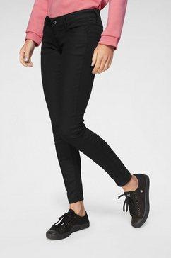 g-star raw skinny fit jeans »3301 deconst low skinny wmn« zwart