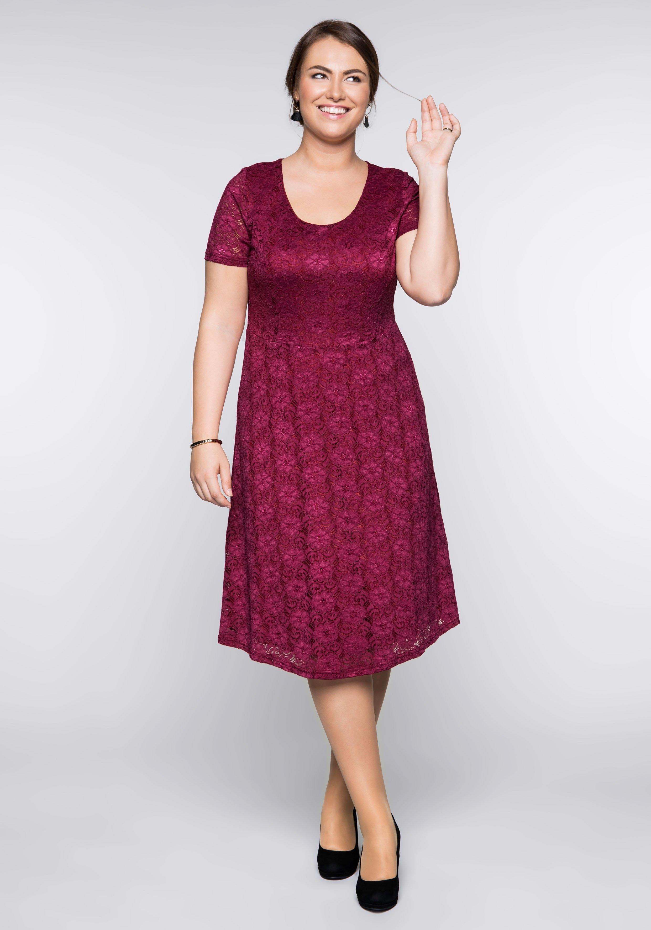e584b44fe1292b sheego Style kanten jurk snel online gekocht