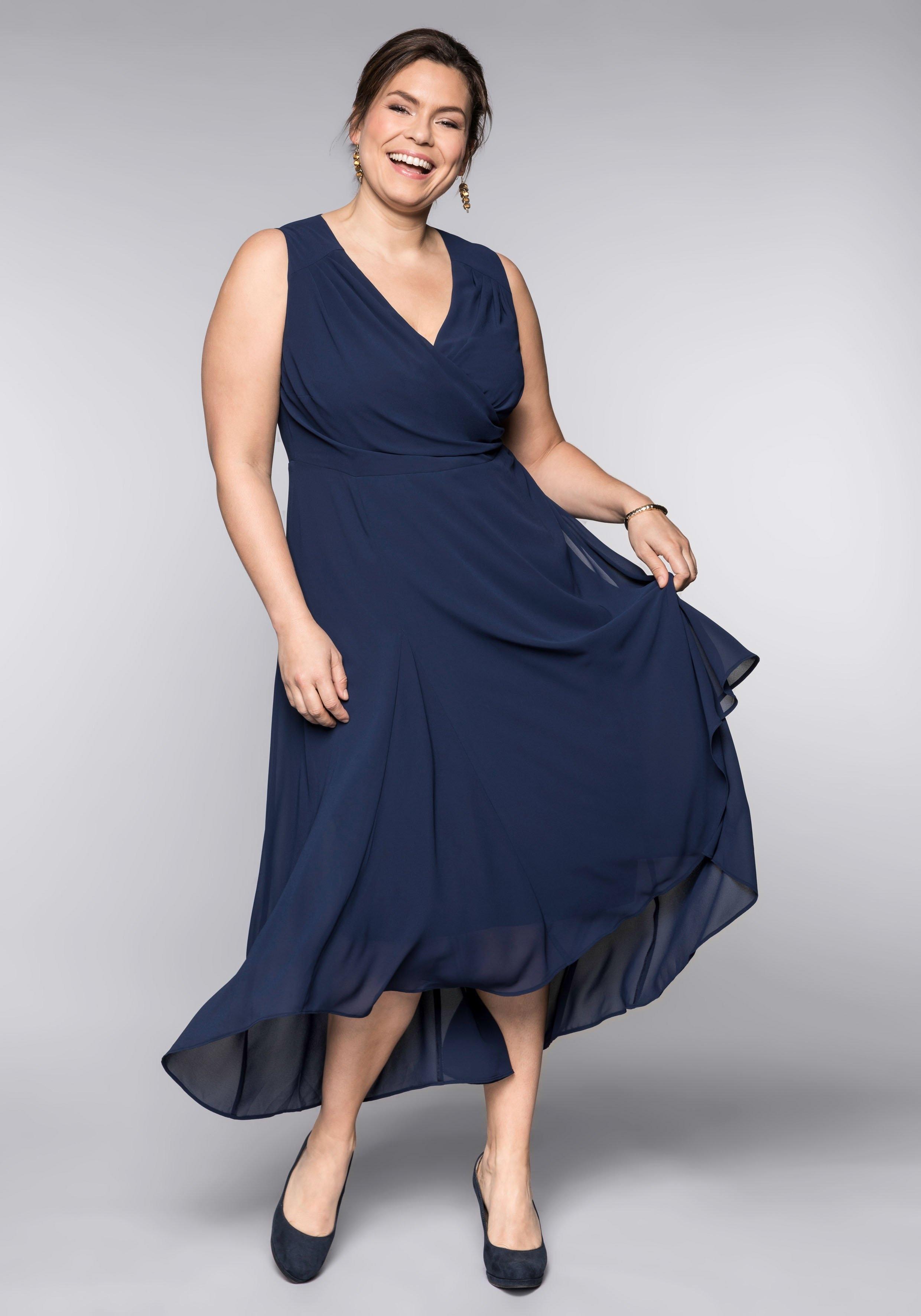 Sheego Style Avondjurk in wikkel-look - verschillende betaalmethodes