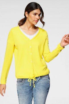 street one vest »idamarie« geel
