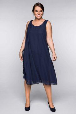 sheego party-jurk blauw