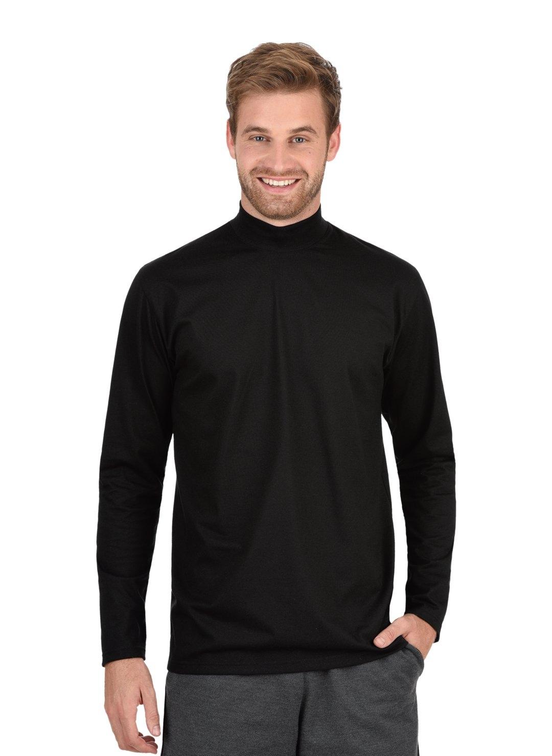 Trigema shirt met lange mouwen met opstaande kraag bestellen: 30 dagen bedenktijd