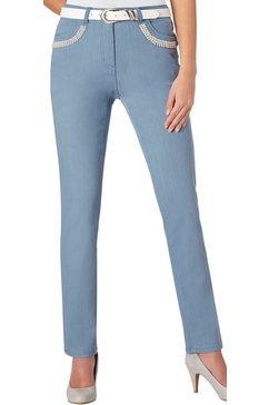 lady jeans met sierkraaltjes blauw
