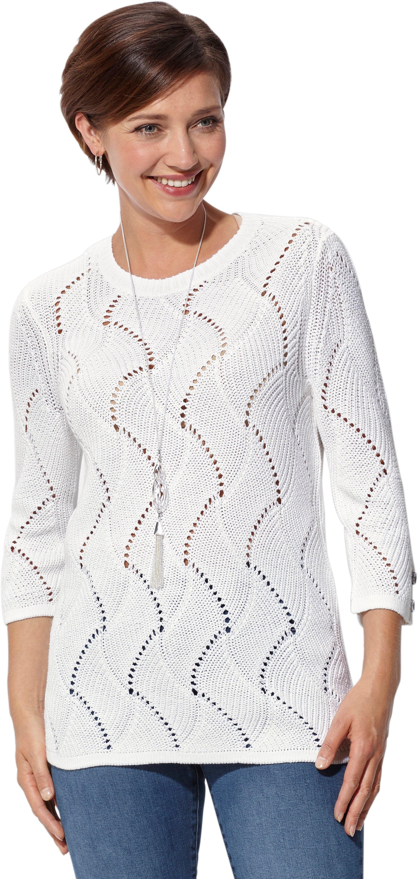 Casual Looks trui met zomers ajourmotief - verschillende betaalmethodes
