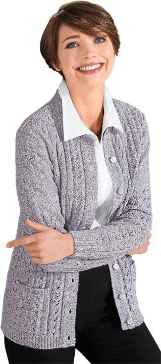 Classic Basics vest met een mooi vormgegeven ajourmotief voor bij OTTO online kopen