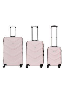 bannisters trolleyset 'brooklyn', 4 wieltjes, (set, 3-delig) roze