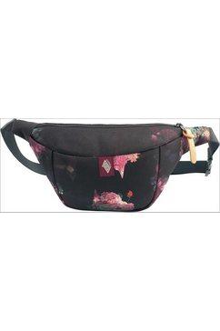 nitro heuptasje hip bag, black rose zwart