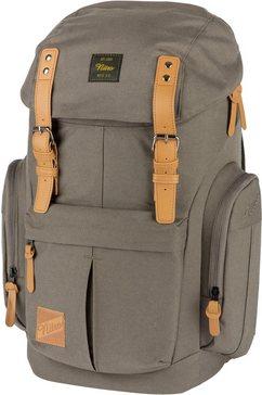 nitro rugzak met laptopvak, »daypacker waxed lizard« beige