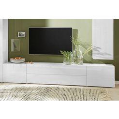borchardt moebel tv-meubel toledo breedte 200 cm wit