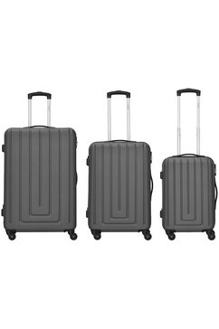 packenger trolleyset 'razor', 4 wieltjes, (set, 3-delig) grijs