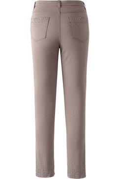 création l jeans met vierkante lovertjes bruin