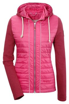 almgwand folklore-outdoorjack voor dames in getailleerd model roze