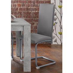 homexperts vrijdragende stoel »nitro« (set van 2 of 6) grijs