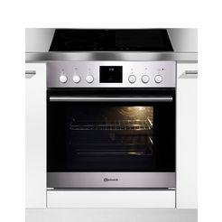 bauknecht inductie fornuisset heko flamenco flexi ovendeur met soft-closesysteem (set) zilver