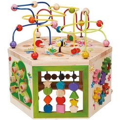 activity center, everearth, 7-in-1 grote tuin activity center multicolor