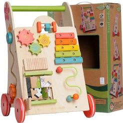 spel- en loopkar, everearth, lerenlopen-speelgoed multicolor
