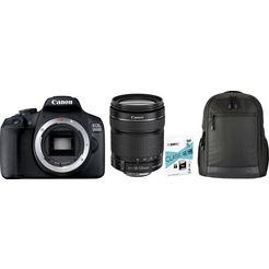 canon »eos 2000d ef-s18-135 kit« spiegelreflexcamera (ef-s 18-135mm 1:3,5-5,6 is stm, 24,1 mp) zwart
