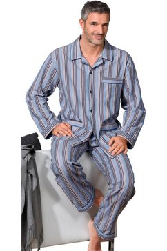king's club gestreepte pyjama van poplin blauw