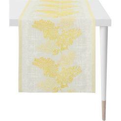apelt tafelloper 1616 springtime jacquard stof (1 stuk) geel