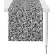 apelt tafelloper 3961 outdoor jacquard stof (1 stuk) zwart