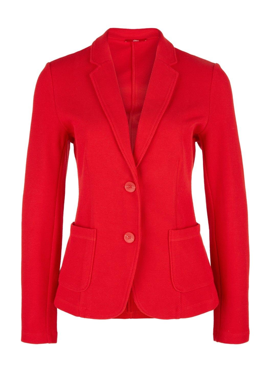 oliver Motief S Red Sweatstof Met Label In De Gestructureerd Online Winkel Blazer Van E2IWDH9
