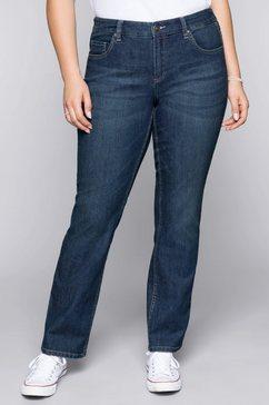 sheego denim stretch jeans blauw