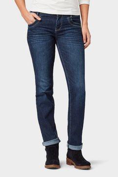 tom tailor straight jeans »alexa straight jeans« blauw
