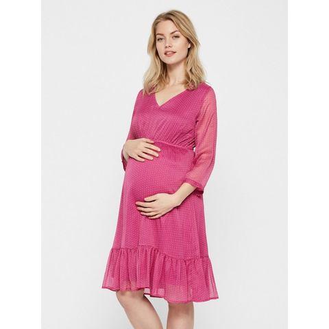 Mama Licious Gestippelde Zwangerschapsjurk roze