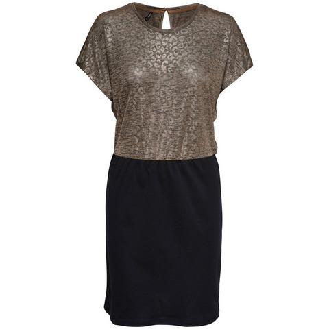 ONLY Bedrukte jurk met korte mouwen bruin