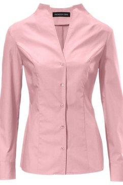 blouse met staande kraag roze