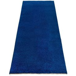 andas loper »signe«, andas, rechthoekig, hoogte 14 mm, machinaal geweven blauw