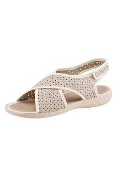 classic sandalen met fraaie glittereffecten beige