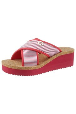 flip flop slippers »plateau cross stripes« rood