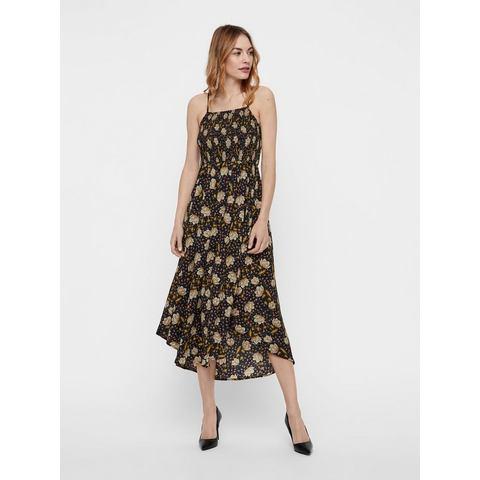 Y.A.S Gebloemde Midi jurk zwart
