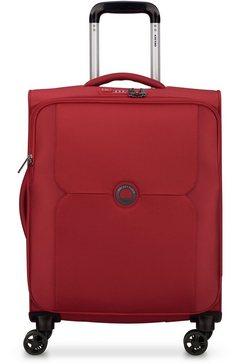 delsey zachte trolley mercure slim line, 55 cm, red rood