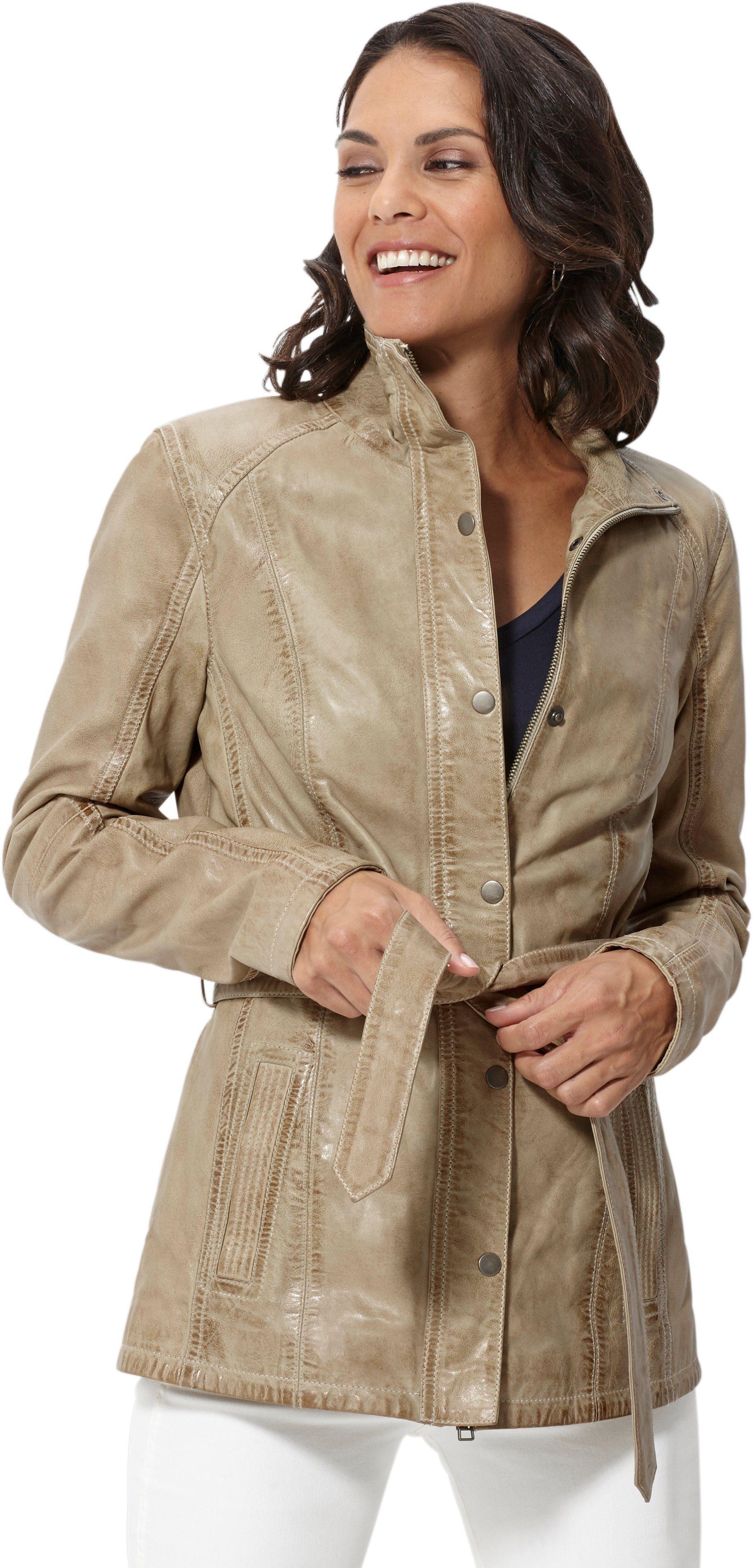 Mainpol leren jasje in een modieuze lengte nu online kopen