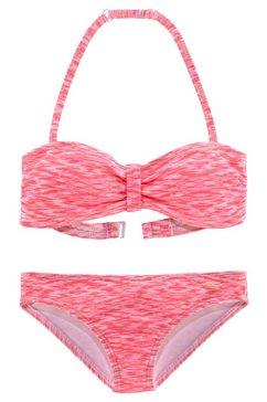 venice beach bandeaubikini in gemêleerde look rood