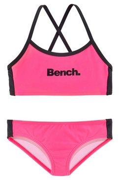 bench. bustierbikini met gekruiste bandjes roze