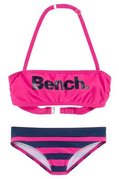 bench. bandeaubikini met grote logoprint roze