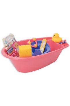 heless poppen badkuip poppenbadset ; made in germany (set, 9 delig) roze