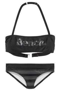 bench. bandeaubikini met grote logoprint zwart