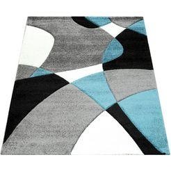 vloerkleed, »diamond 664«, paco home, rechthoekig, hoogte 18 mm blau