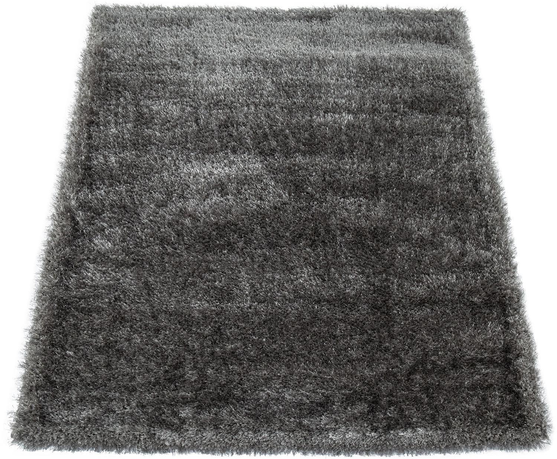 Paco Home Hoogpolig vloerkleed Touch 100 zachte uni shaggy met glansgaren, woonkamer in de webshop van OTTO kopen