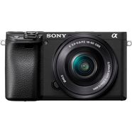 sony »ilce-6400lb - alpha 6400 e-mount« systeemcamera (24,2 mp, bluetooth wifi (wifi) nfc) zwart